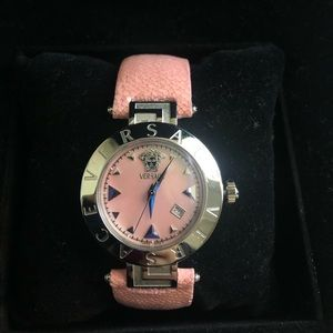 Versace pink watch